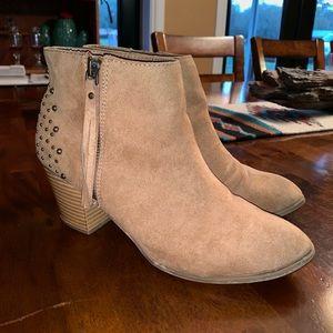 Express Fringe Studded Ankle Boots